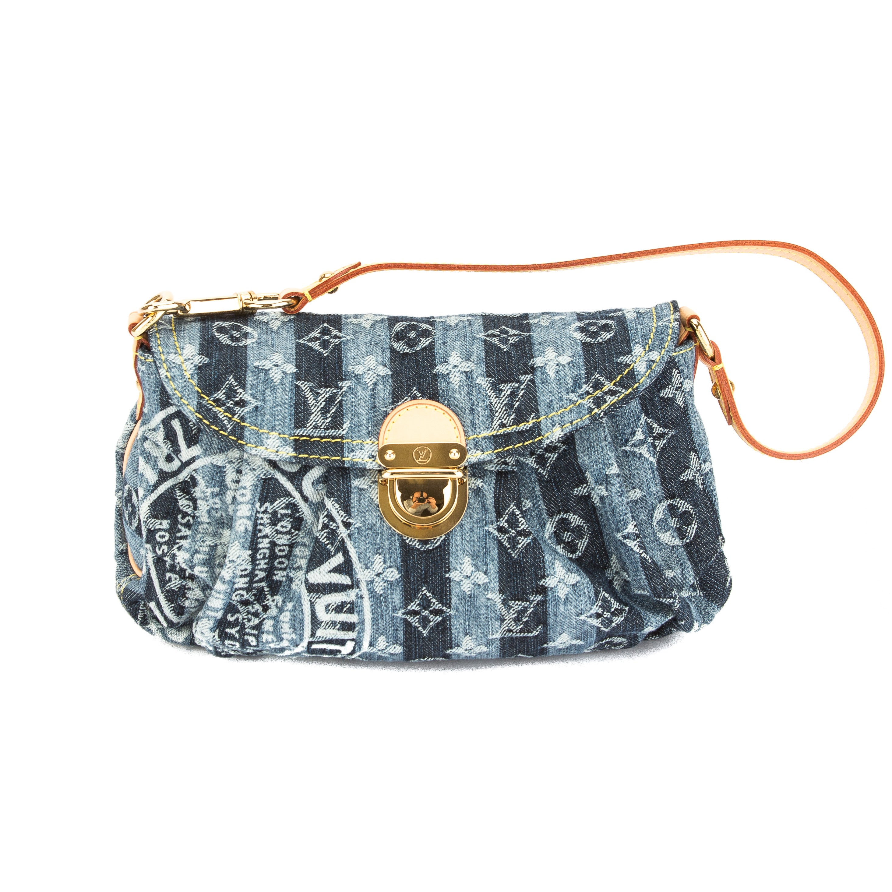 452611f2f4a Louis Vuitton Monogram Blue Denim Canvas Mini Pleaty Raye Bag Pre Owned