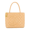 Chanel Beige Caviar Leather Medallion Tote Bag (Pre Owned)