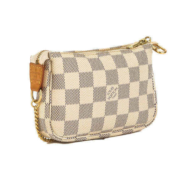 Louis Vuitton Damier Azur Canvas Mini Pochette Accessoires Bag (Pre Owned)