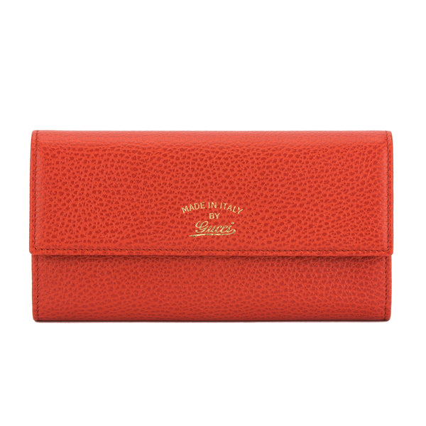 7f93e3439f7 Gucci Orange Calfskin Leather Swing Continental Wallet (Pre Owned ...