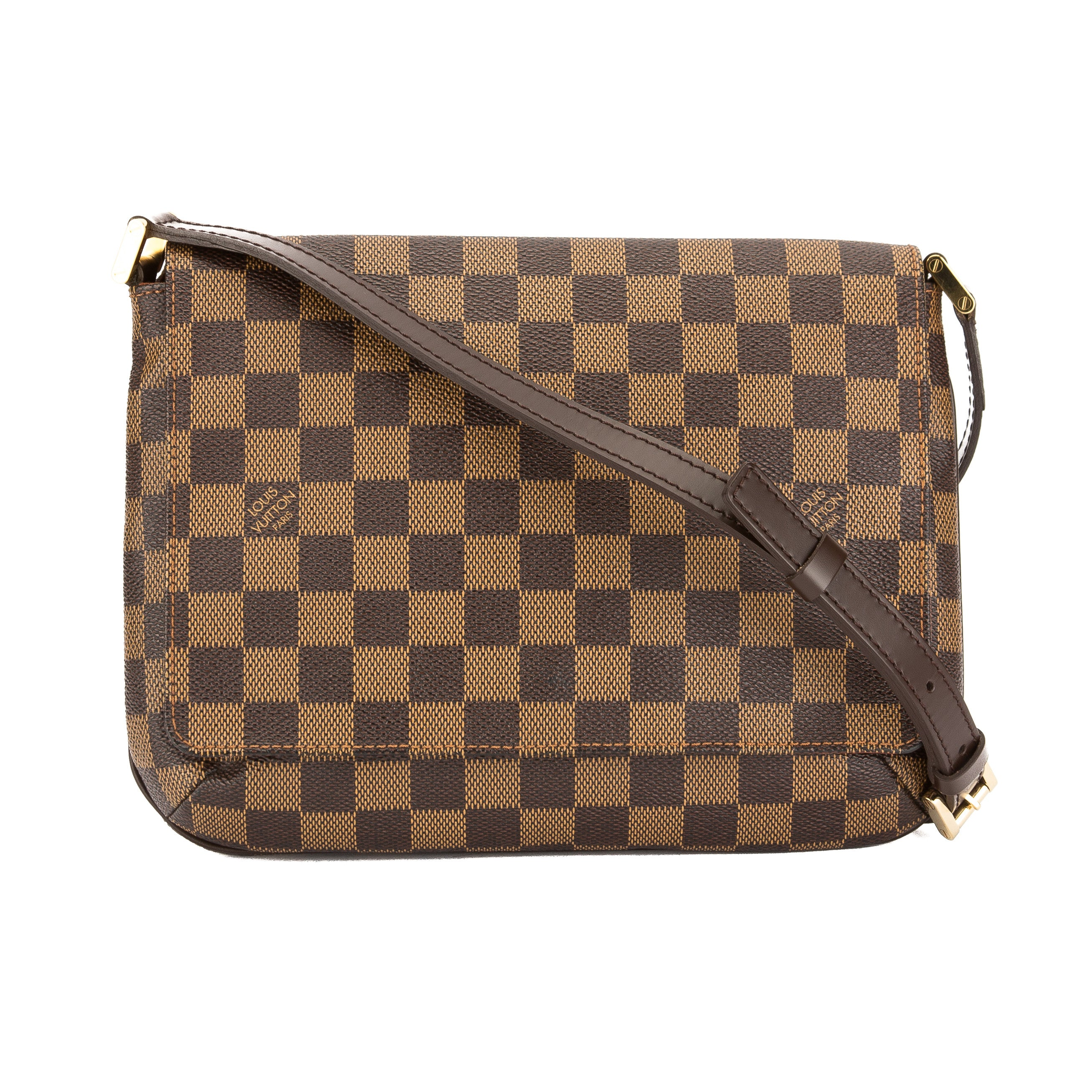 69cf52523ec0 Louis Vuitton Damier Ebene Canvas Musette Tango Long Strap Bag Pre Owned