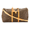 Louis Vuitton Monogram Canvas Keepall Bandouliere 60 Bag (Pre Owned)