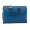 Louis Vuitton Toledo Blue Epi Leather Speedy 25 Bag (Pre Owned)