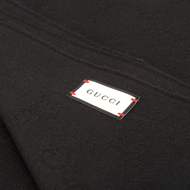 Gucci Black GG Jacquard Wool-Silk Shawl (with Tags)