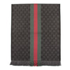 Gucci Grey GG Jacquard Web Knit Scarf (New with Tags)