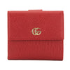 Gucci Hibiscus Red Leather French Flap Wallet (New with Tags)