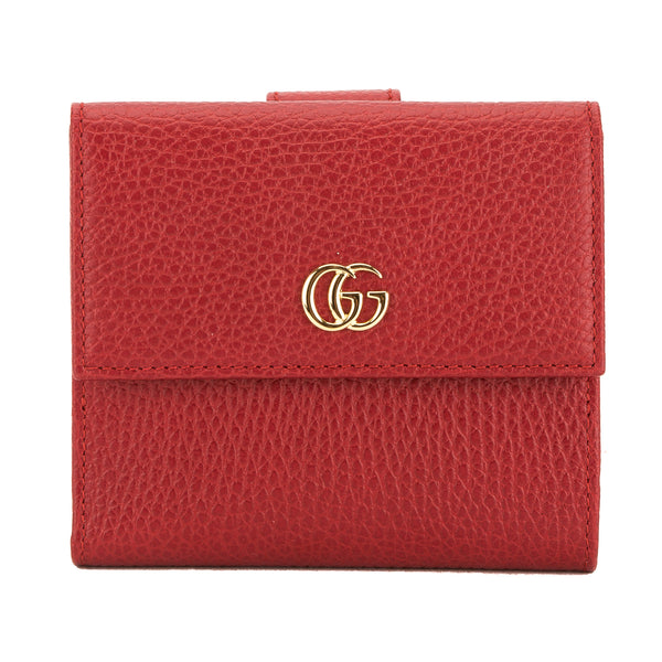 e45afeea68b Gucci Hibiscus Red Leather French Flap Wallet (New with Tags ...