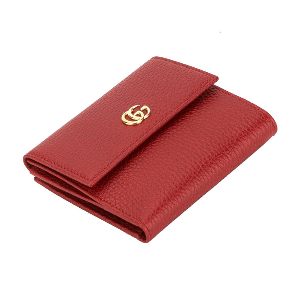3498505c9cf Gucci Hibiscus Red Leather French Flap Wallet (New with Tags ...