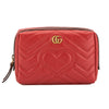 Gucci Hibiscus Red Matelasse Leather GG Marmont Cosmetic Case (New with Tags)