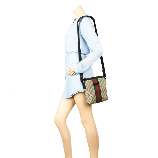 d76d236729be Gucci GG Supreme Canvas Web Messenger Bag (New with Tags) - 3626017 ...