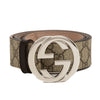 Gucci Brown Leather Reversible GG Supreme Belt (New with Tags)