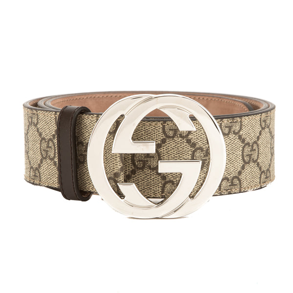 4abb3dc3b93 Gucci Brown Leather Reversible GG Supreme Belt (New with Tags ...