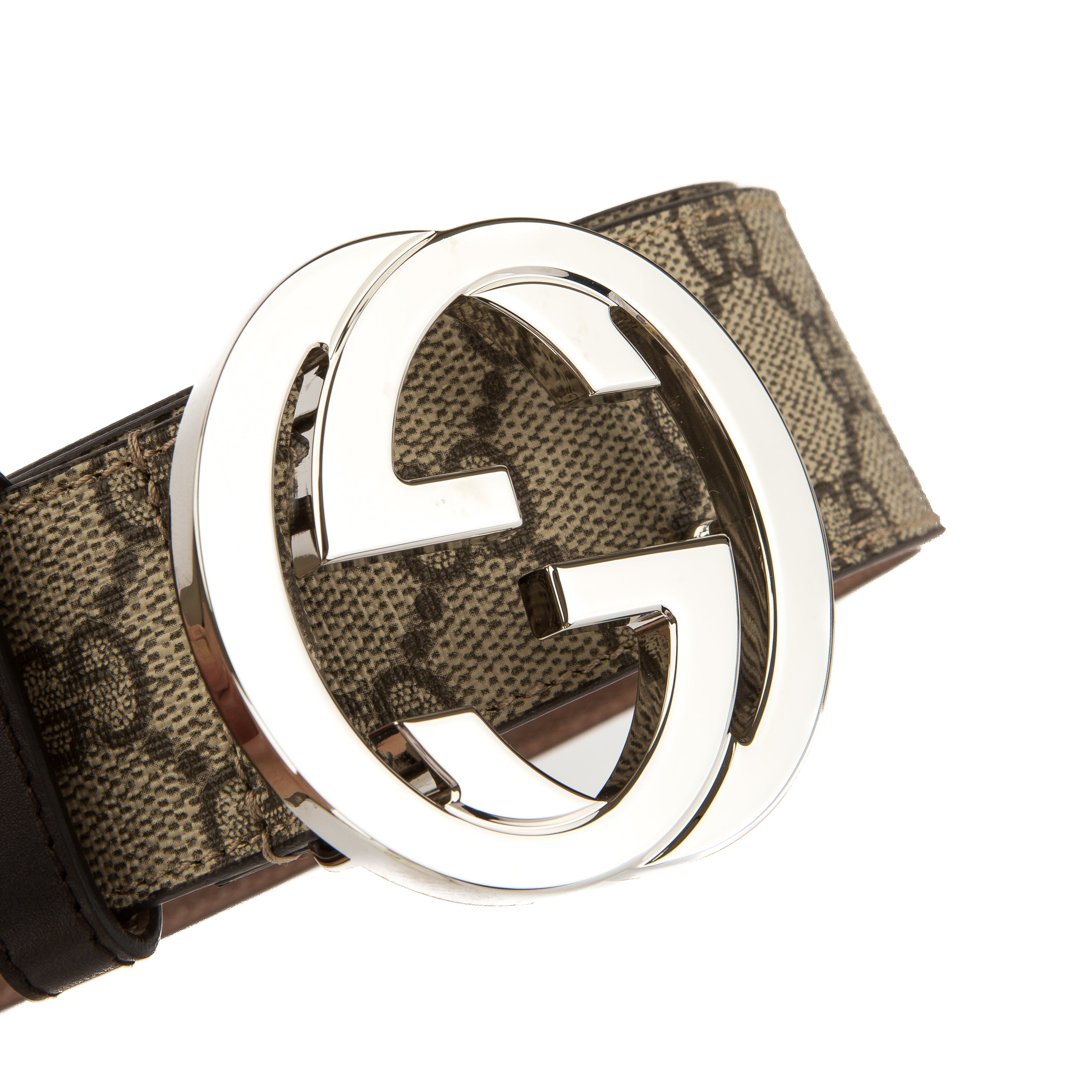 66d3d4440fa Gucci Brown Leather Reversible GG Supreme Belt (New with Tags) - 3626022