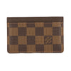 Louis Vuitton Damier Ebene Canvas Porte-Cartes Simple Card Holder (Pre Owned)