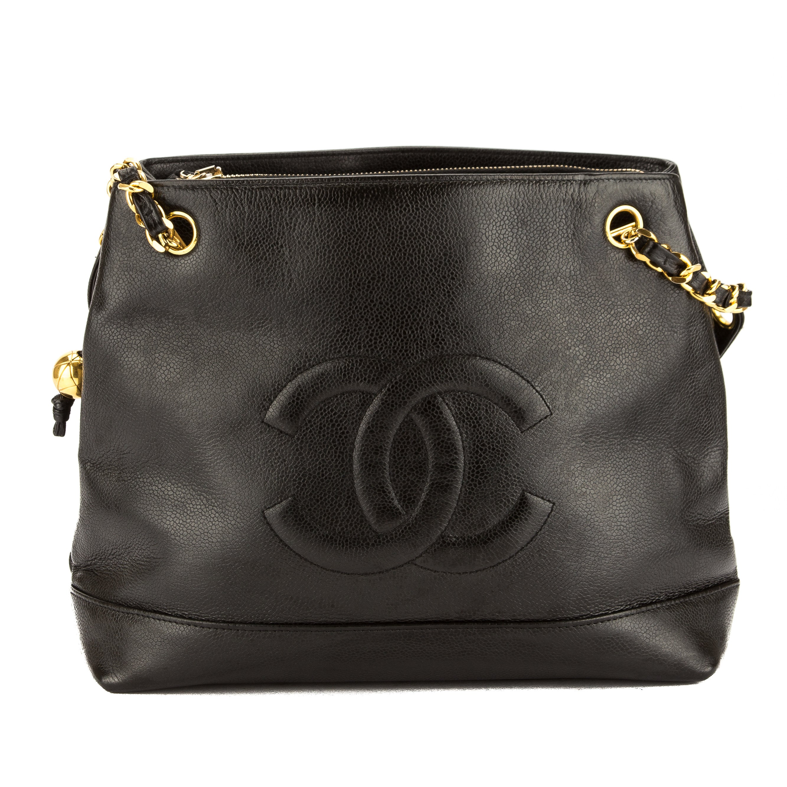49a481d003c6 Chanel Black Caviar Leather CoCo Mark Chain Shoulder Bag (Pre Owned ...