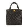 Chanel Black Quilted Caviar Leather Tote Bag (Pre Owned)