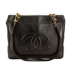 Chanel Black Lambskin Leather Medium Shoulder Bag (Pre Owned)