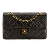 Chanel Black Quilted Lambskin Leather Small Classic Flap Bag (Pre Owned)