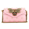 Gucci Light Pink Leather Broadway Mini Bag (New with Tags)