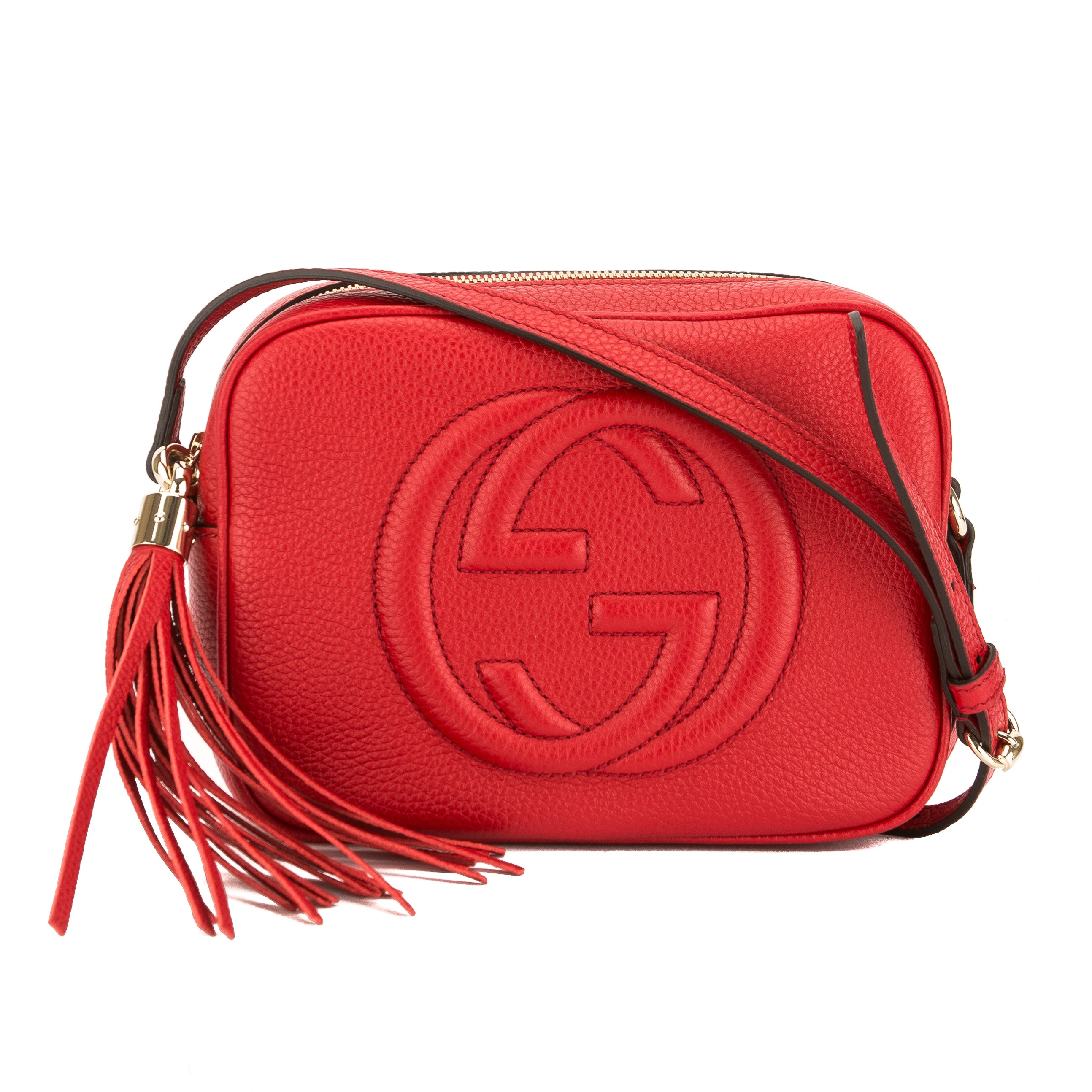 32ccd626c35 Gucci Red Soho Leather Disco Bag (New with Tags) - 3659002