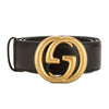 Gucci Black Leather Belt with Interlocking G Buckle (New with Tags)