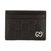 Gucci Black Signature Leather Card Case (New with Tags)