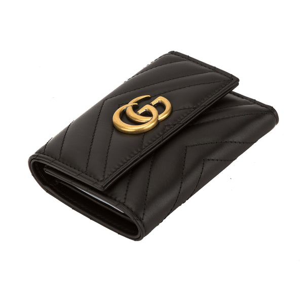 113ced9179bf6f ... Gucci Black Matelasse Leather GG Marmont Wallet (New with Tags) ...