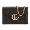 Gucci Black Matelasse Leather GG Marmont Mini Bag (New with Tags)