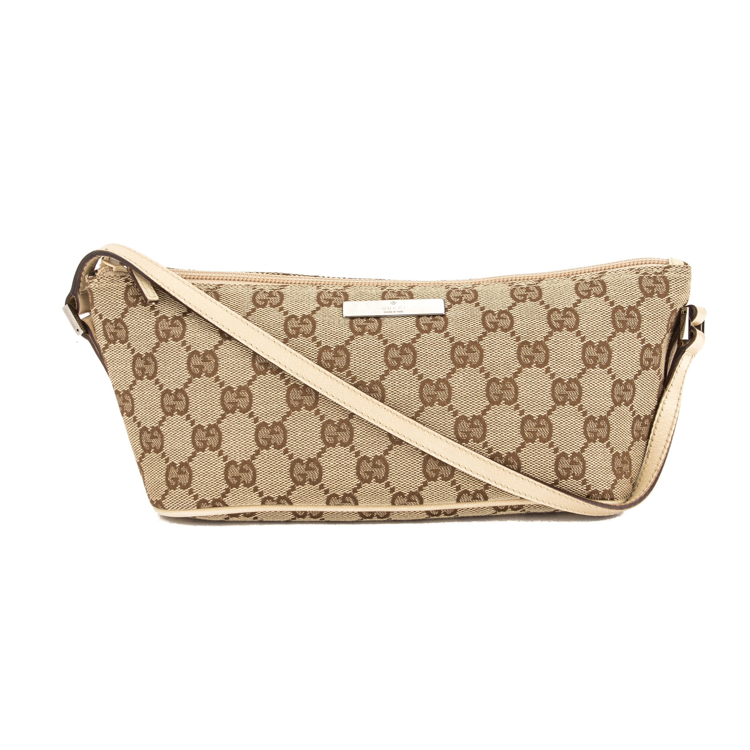 8afe2d742771 Gucci GG Monogram Canvas Pochette Bag (Pre Owned) - 3670007
