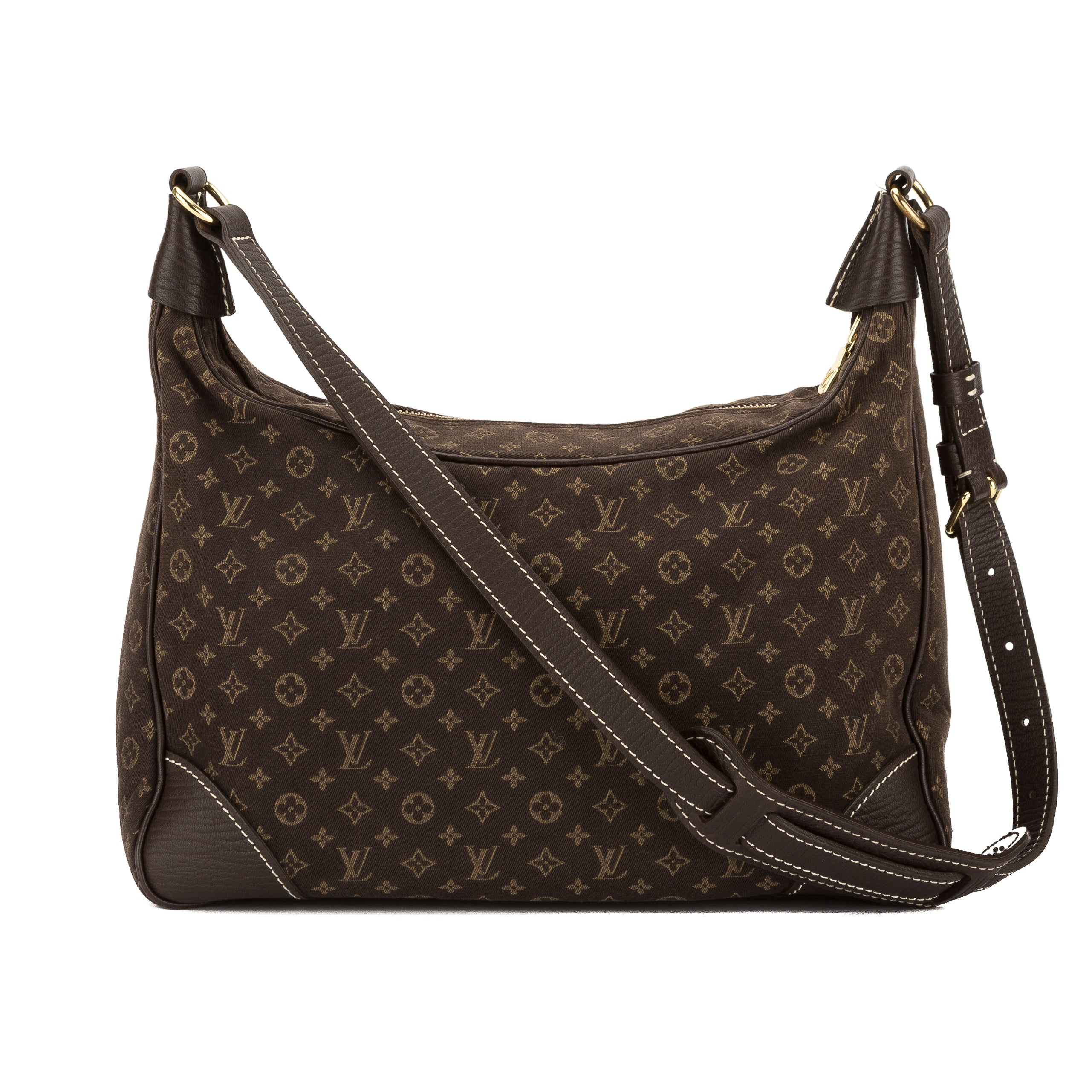 Louis Vuitton Ebene Monogram Mini Lin Canvas Boulogne Bag (Pre Owned ... dccfe4faa4ca1