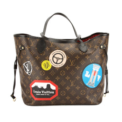 Louis Vuitton Monogram Canvas World Tour Neverfull Mm Bag Pre Owned Luxedh