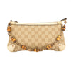 Gucci GG Monogram Canvas Bamboo Pochette Bag (Pre Owned)