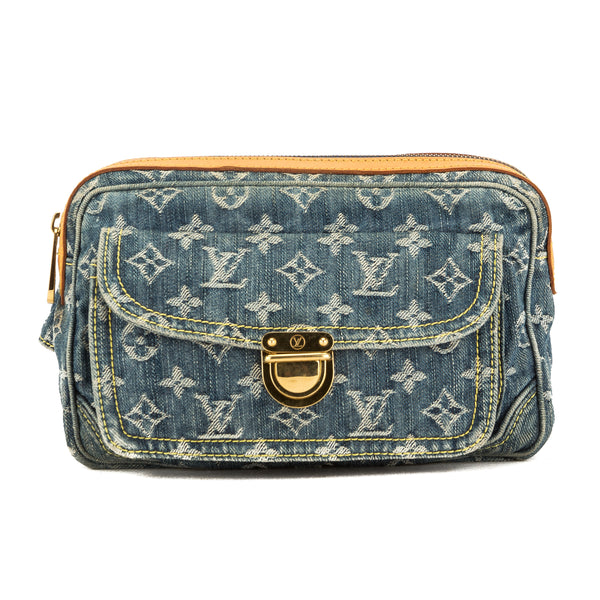 166804a2775 Louis Vuitton Blue Monogram Denim Bum Bag (Pre Owned)