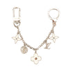 Louis Vuitton Ivory and Silver Metal Fleur d'Epi Bag Charm Chain (Pre Owned)