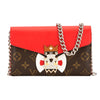 Louis Vuitton Monogram Canvas Totem Tribal Mask Chain Wallet (Pre Owned)