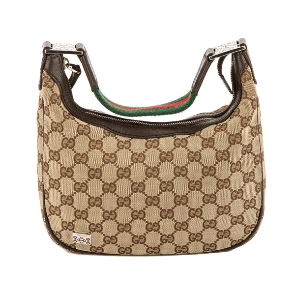 ca0f89b6dac Gucci GG Monogram Canvas Web Hobo Bag (Pre Owned) - 3710020