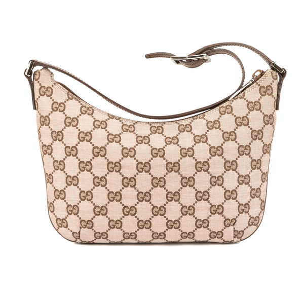 e4f8f3490a8 Gucci Brown Leather Pink GG Monogram Lurex Bag (Pre Owned) - 3714018 ...