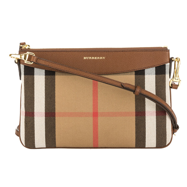 Burberry Black Leather and House Check Clutch Bag (New with Tags ... c0b1ba8c4d430
