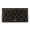 Chanel Black Quilted Lambskin Leather Yen Wallet (Pre Owned)