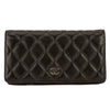 Chanel Black Quilted Lambskin Leather Bifold Wallet (Pre Owned)