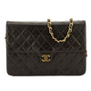 Chanel Black Quilted Lambskin Leather Chain Clutch Bag (Pre Owned)