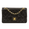 Chanel Black Quilted Lambskin Leather Small Double Flap Bag (Pre Owned)