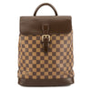 Louis Vuitton Damier Ebene Canvas Soho Backpack (Pre Owned)