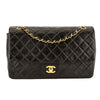 Chanel Black Quilted Lambskin Leather Vintage Medium Single Flap Bag (Pre Owned)