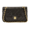 Chanel Black Quilted Lambskin Leather Medium Double Flap Bag (Pre Owned)