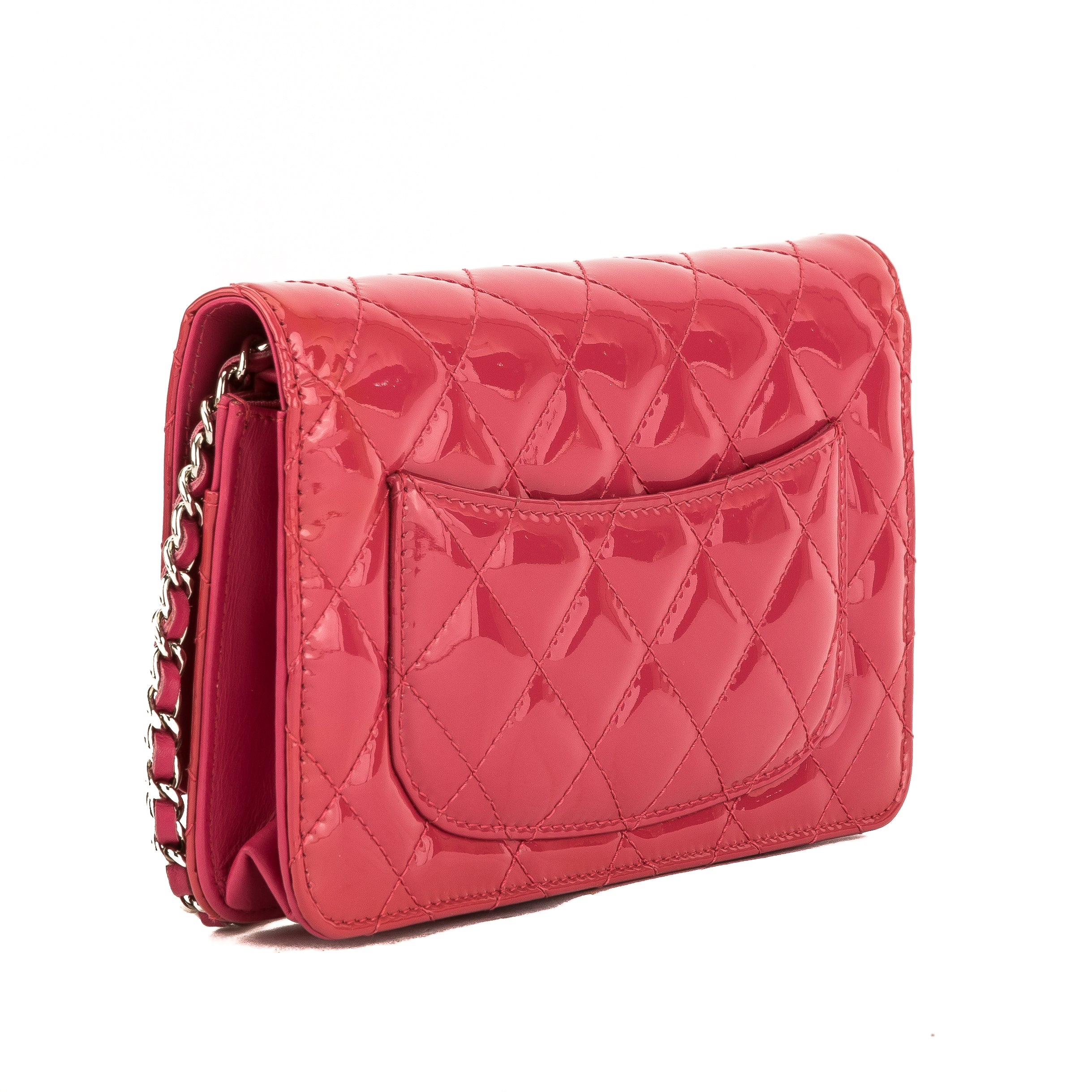 7b7ec2f765fb Chanel Pink Quilted Patent Leather Brilliant Wallet On Chain WOC Bag ( -  3788004 | LuxeDH