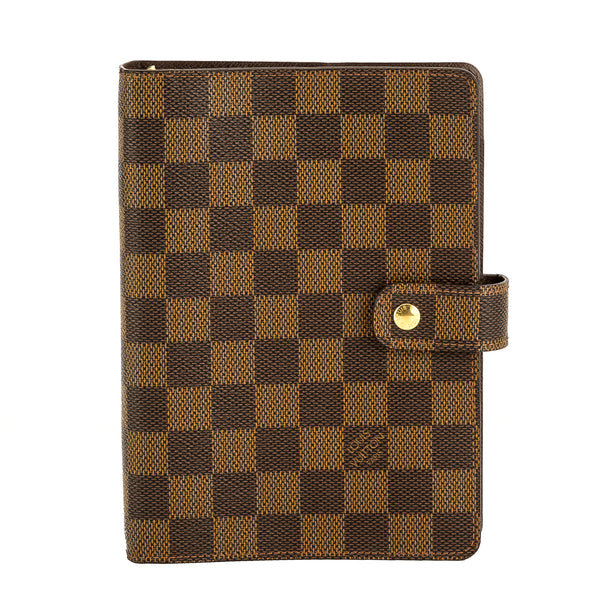 7c7a9a69f9b2 Louis Vuitton Damier Ebene Canvas Agenda MM Cover (Pre Owned ...