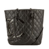 Chanel Black Quilted Calfskin Leather Cambon Ligne Medium Tote (Pre Owned)
