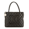 Chanel Black Quilted Caviar Leather Medallion Tote Bag (Pre Owned)