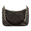 Chanel Black Quilted Caviar Leather Shoulder Bag (Pre Owned)